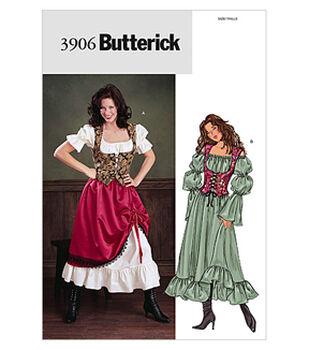 Butterick Pattern B3906 Blouson Dress Skirt And Fitted Vest