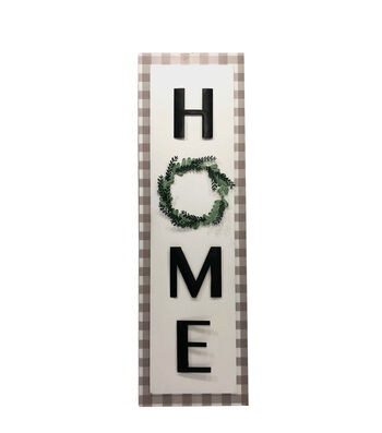 Simply Spring Vertical Wall Decor-Home with Wreath