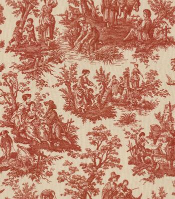 "Waverly Multi-Purpose Decor Fabric 54""-Country Life Garnet"