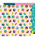 American Crafts Shimelle Box of Crayons 12\u0027\u0027x12\u0027\u0027 Cardstock-On a Roll