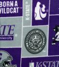 Kansas State University Wildcats Fleece Fabric 58\u0022-Block