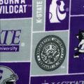 Kansas State University Wildcats Fleece Fabric -Block
