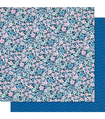 """Maggie Holmes Willow Lane Double-Sided Cardstock 12""""X12""""-Periwinkle"""
