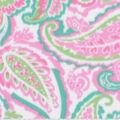 Blizzard Fleece Fabric-Pink & Green Paisley