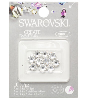 Swarovski Create Your Style 10 pk Xirius Flat Back Rhinestones-Crystal