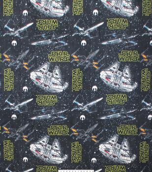 "Star Wars Fleece Fabric 58""-Ships Black"