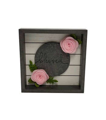 Simply Spring Wall Decor-Gray Blessed