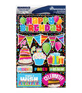 Reminisce Signature Dimensional Stickers Happy Birthday
