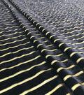 Casa Embellish Velvet Fabric 43\u0027\u0027-Metallic & Black Stripes