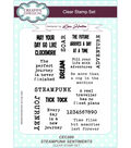 Creative Expressions 15 pk Clear Stamp Set-Steampunk Sentiments
