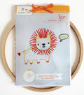 Lion Hand Embroidery Wall Art Kit