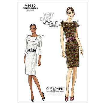 Vogue Patterns Misses Dress-V8630