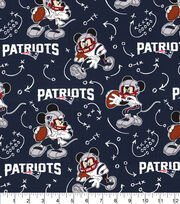 New England Patriots Cotton Fabric-Mickey, , hi-res