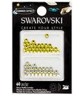 Swarovski Create Your Style 60 pk Combo Hotfix Crystals-Citrine Shimmer