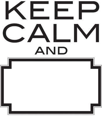 "Wall Pops Keep Calm and Dry Erase Wall Quote Decals, 17"" x 19"""