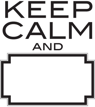 """Wall Pops Keep Calm and Dry Erase Wall Quote Decals, 17"""" x 19"""""""