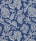 Robert Allen @ Home Multi-Purpose Decor Fabric 54\u0022-Jacobean Toss Indigo
