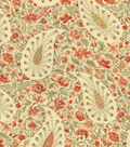 Waverly Upholstery 8x8 Fabric Swatch-Paisley Verveine/Chutney