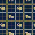 Pittsburgh Panthers Flannel Fabric 42\u0022-Plaid