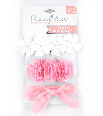 3 Pc Headband- Cream Pink
