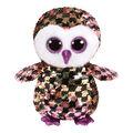 TY Beanie Boo Sequin Owl-Checks