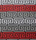 Blizzard Fleece Fabric -Poppy Red Fret