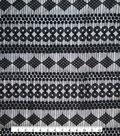 Lace Knit Fabric 54\u0027\u0027-Black Circle & Diamond