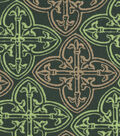 St. Patrick\u0027s Day Cotton Fabric-Green & Metallic Celtic