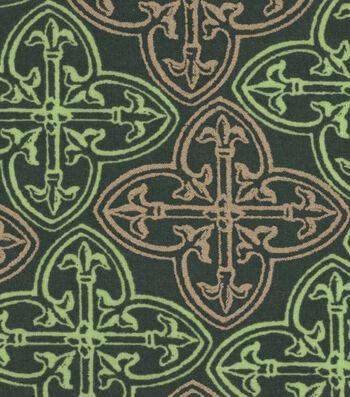 St. Patrick's Day Cotton Fabric -Celtic Green Metallic