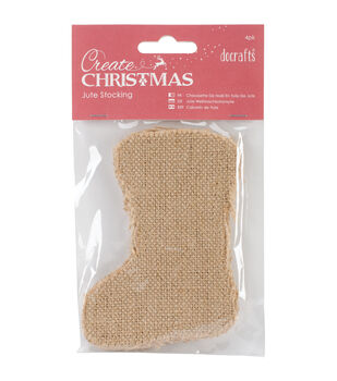 Natural Jute - Create Christmas Stockings