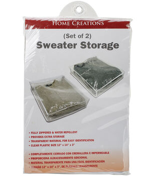 """Sweater Storage Bags 2 Pack 12""""X14""""X3"""""""