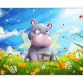 Diamond Embroidery/Printed/Gem Kit 27X38 cm-Little Hippo