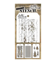Stampers Anonymous Tim Holtz 3 pk Mini Layering Stencil Set #21, , hi-res