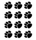 Black Paw Prints Mini Accents 36/pk, Set of 12 Packs