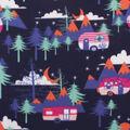Blizzard Fleece Fabric-Midnight Glampers