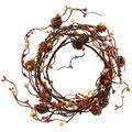 Blooming Autumn 66\u0027\u0027 DIY Berry & Pinecone Coiled Garland