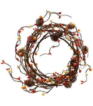 Blooming Autumn 66'' DIY Berry & Pinecone Coiled Garland