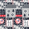Christmas New York Yankees Cotton Fabric-Winter