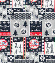 Christmas New York Yankees Cotton Fabric-Winter, , hi-res