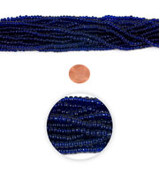 Blue Moon Strung Glass Seed Bead Hank,Cobalt Blue, , hi-res