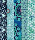 Jelly Roll Cotton Fabric Pack 2.5\u0027\u0027x42\u0027\u0027-Teal