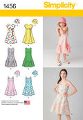 Simplicity Pattern 1456K5 7-8-10-12--Child Girl Dresses