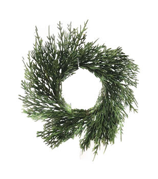 Handmade Holiday Christmas 8'' Cypress DIY Wreath-Green