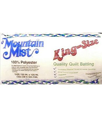 """Mountain Mist Polyester Quilt Batting-King Size 120""""X120"""""""