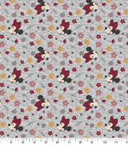 Disney Knit Fabric-Minnie Floral Toss, , hi-res