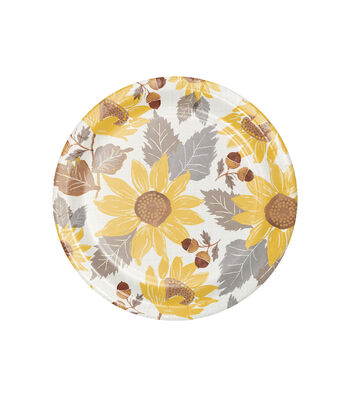 Simply Autumn 8 pk 6'' Lunch Plates-Sunflowers