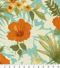 Tommy Bahama Outdoor Print Fabric 54\u0022-Seaspray Hibiscus Silhouette