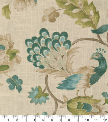 Jaclyn Smith Upholstery Fabric 54''-Watercolor Peacock
