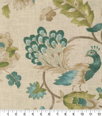 Jaclyn Smith Multi-Purpose Decor Fabric 54''-Watercolor Peacock