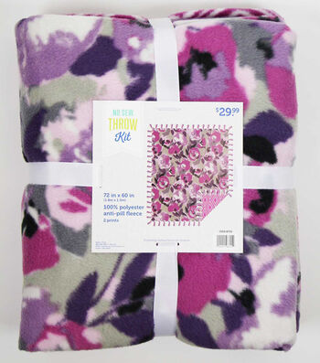 "No Sew Fleece Throw 72""-Vistamesa Nagoya Orchid"